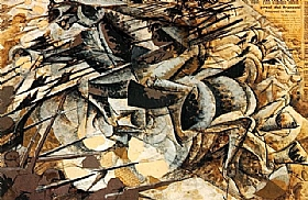 Umberto Boccioni, La charge des lanciers - GRANDS PEINTRES / Boccioni