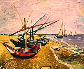 Vincent Van Gogh, Barques sur la plage - GRANDS PEINTRES / Van Gogh