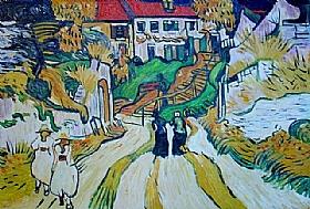 Vincent Van Gogh, L'Escalier d'Auvers - GRANDS PEINTRES / Van Gogh