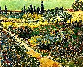 Vincent Van Gogh, Jardin en fleurs avec sentier - GRANDS PEINTRES / Van Gogh
