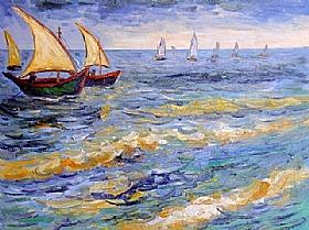 Vincent Van Gogh, Saintes-Maries-de-la-Mer - GRANDS PEINTRES / Van Gogh
