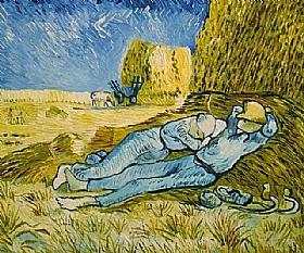 Vincent Van Gogh, La Sieste ou La Méridienne - GRANDS PEINTRES / Van Gogh