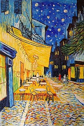 Vincent Van Gogh, Terrasse place du Forum - GRANDS PEINTRES / Van Gogh