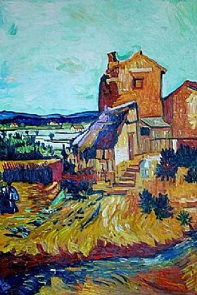 Vincent Van Gogh, Le vieux moulin - GRANDS PEINTRES / Van Gogh