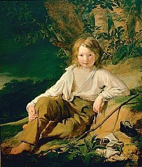 Friedrich von Amerling, Le jeune pêcheur - GRANDS PEINTRES / Von Amerling