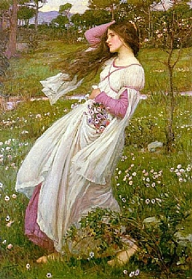 John William Waterhouse, Balayée par le vent - GRANDS PEINTRES / Waterhouse