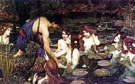 John William Waterhouse, Hylas et les nymphes - GRANDS PEINTRES / Waterhouse