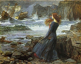 John William Waterhouse, Miranda - GRANDS PEINTRES / Waterhouse