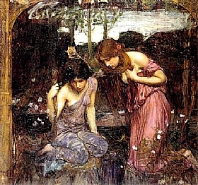 John William Waterhouse, Nymphes et la tête d'Orphée - GRANDS PEINTRES / Waterhouse
