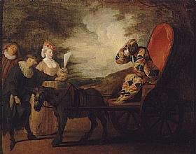 Jean Antoine Watteau, Arlequin empereur dans la lune - GRANDS PEINTRES / Watteau