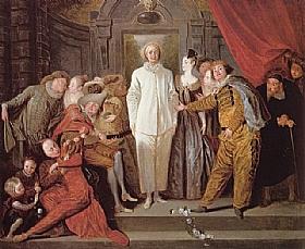 Jean Antoine Watteau, les comédiens italiens - GRANDS PEINTRES / Watteau