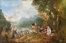 Jean Antoine Watteau, Pelerinage à l'ile de Cythère - GRANDS PEINTRES / Watteau