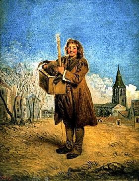 Jean Antoine Watteau, Savoyard avec une marmotte - GRANDS PEINTRES / Watteau