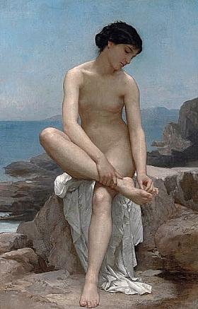 William-Adolphe Bouguereau, Baigneuse - GRANDS PEINTRES / Bouguereau