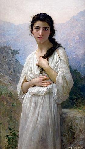 William-Adolphe Bouguereau, Méditation - GRANDS PEINTRES / Bouguereau