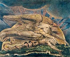 William Blake, La création d'adam - GRANDS PEINTRES / Blake
