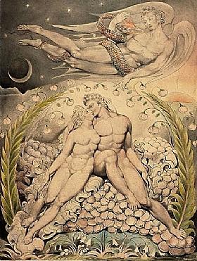 William Blake, L'amour d'Adam et Eve - GRANDS PEINTRES / Blake