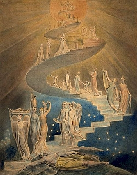 William Blake, L'échelle de Jacob - GRANDS PEINTRES / Blake