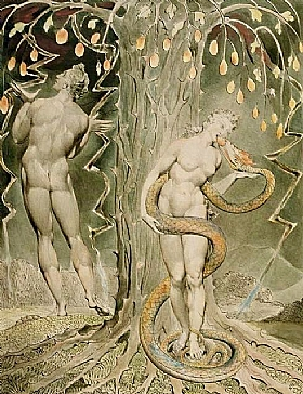 William Blake, La tentation d'Eve - GRANDS PEINTRES / Blake