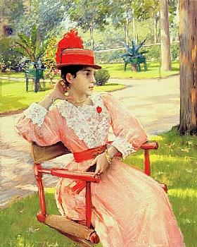 William Merritt Chase, Après midi au parc - GRANDS PEINTRES / Chase