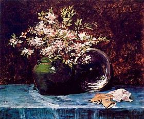 William Merritt Chase, Bouquet d'azalées - GRANDS PEINTRES / Chase