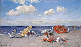 William Merritt Chase, La plage du bord de mer - GRANDS PEINTRES / Chase