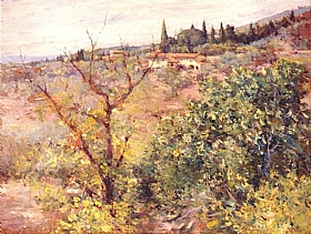 William Merritt Chase, Fiesole Florence Toscane - GRANDS PEINTRES / Chase