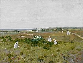 William Merritt Chase, Fleurs au bord de mer - GRANDS PEINTRES / Chase