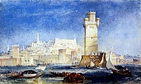 William Turner, Rhodes - Travaux Lord Byron - GRANDS PEINTRES / Turner
