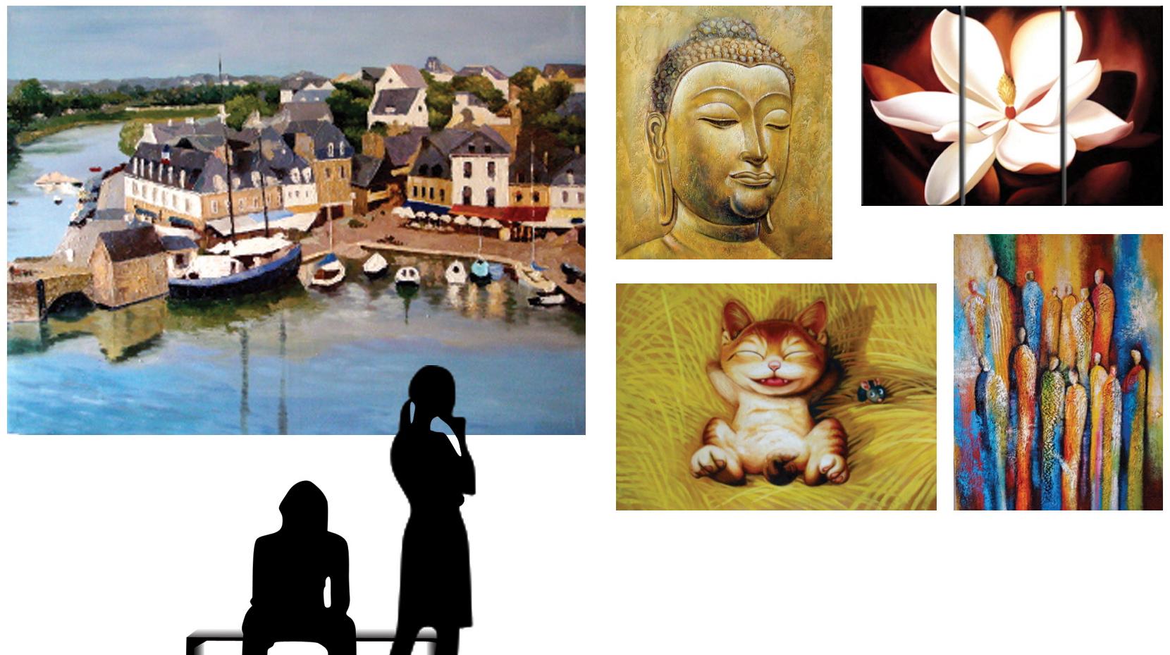 Tableaux contemporains attention la peinture vente - Idee peinture tableau ...
