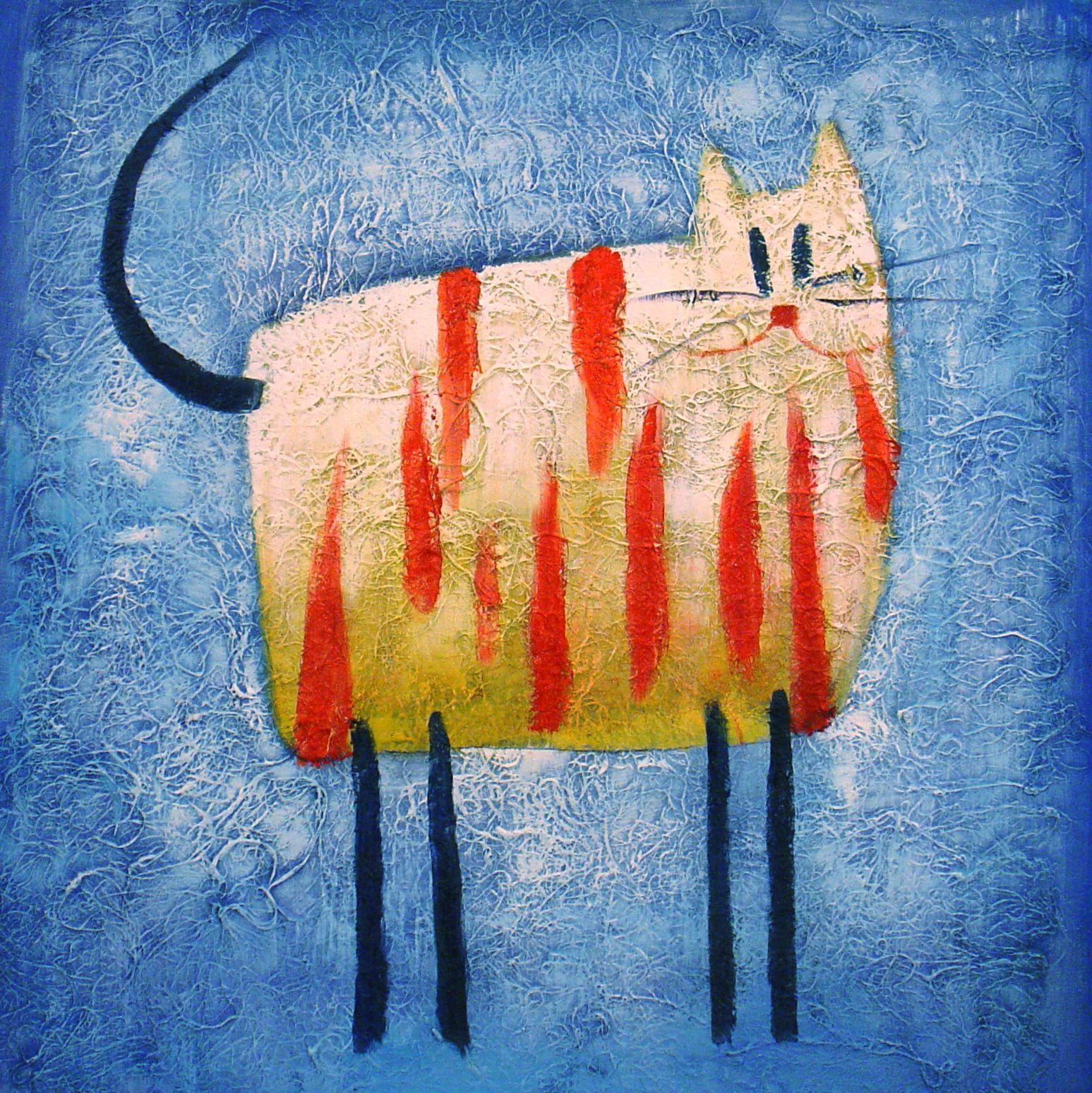 Animaux Le Chat Tigre Tableau De Peintures Et Peinture De