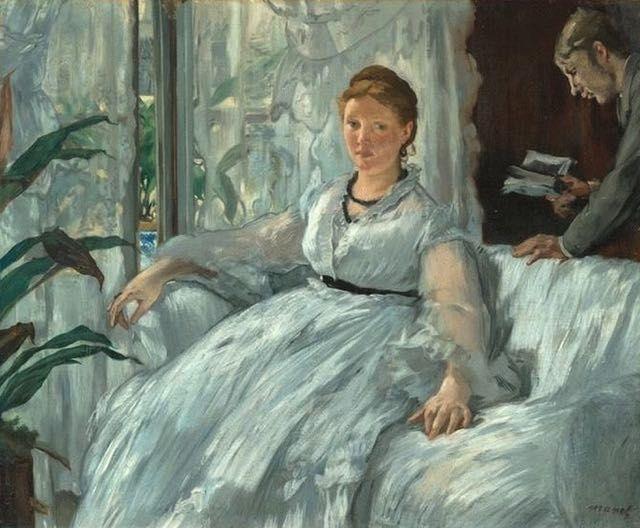 Edouard Manet, La lecture : tableau de GRANDS PEINTRES et peinture de Manet