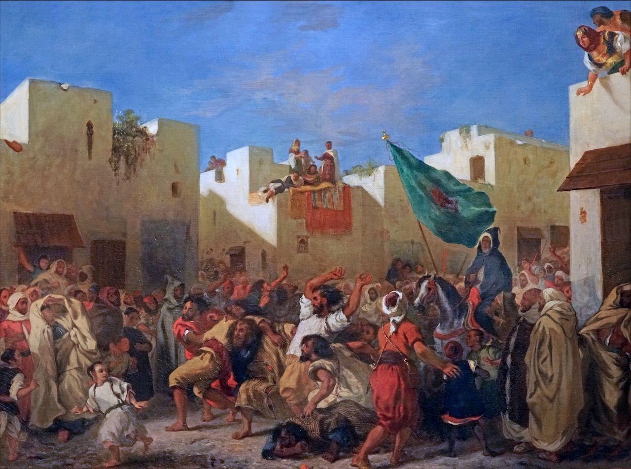 Eugène Delacroix, Les fanatiques de Tanger : tableau de ...