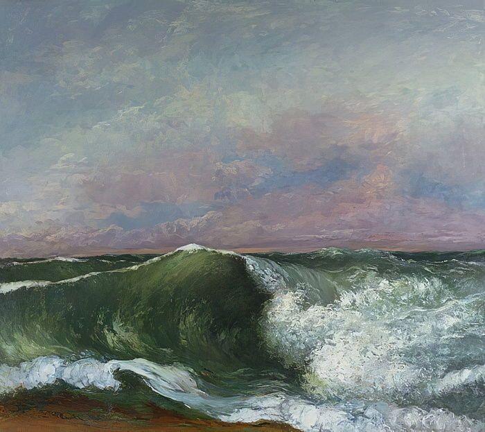 Gustave Courbet, Une vague : tableau de GRANDS PEINTRES et peinture de Courbet