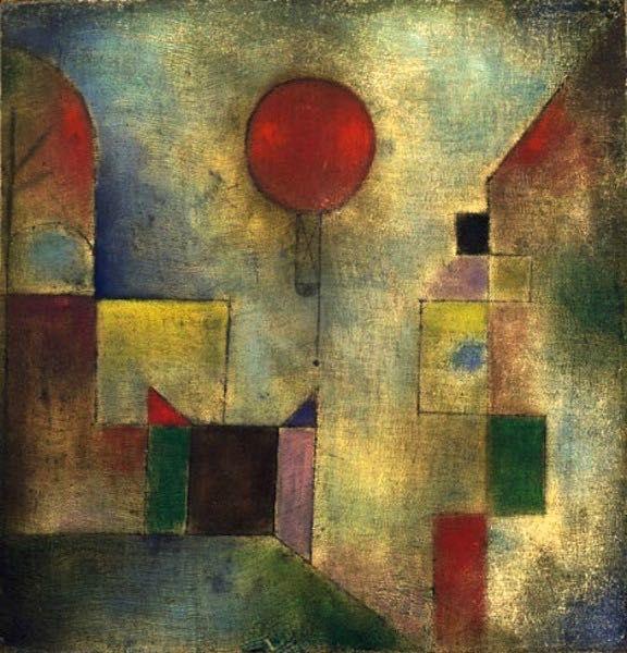 Paul Klee, Le ballon rouge : tableau de GRANDS PEINTRES et peinture de Klee