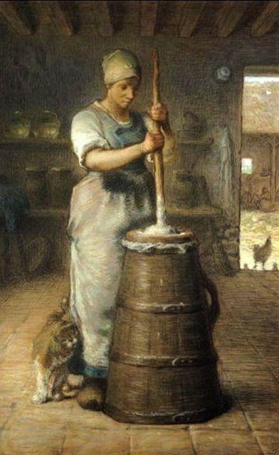 Jean Francois Millet La Barrateuse Tableau De Grands Peintres Et Peinture De Millet