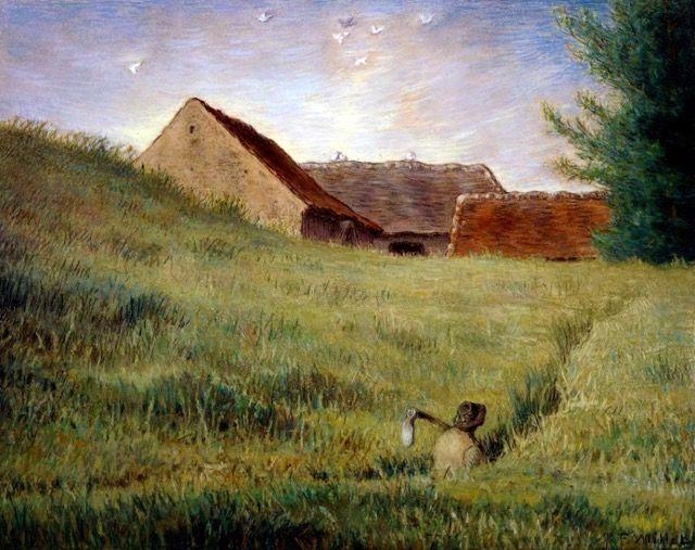 Jean-François Millet, Chemin dans les blés : tableau de GRANDS PEINTRES et peinture de Millet