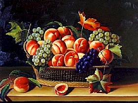 Louise Moillon, Corbeille pêches et raisins - GRANDS PEINTRES / Moillon