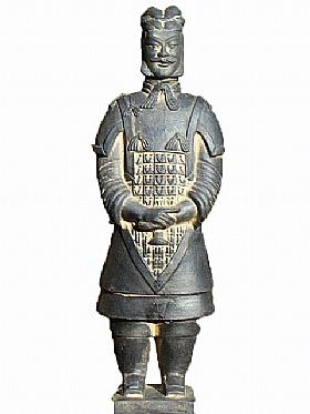 Soldat de Xian en Terre cuite, Le Général (non verni) - SCULPTURES / Céramiques