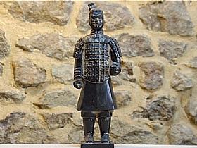 soldat de xian en terre cuite vernie, officier - SCULPTURES / Céramiques