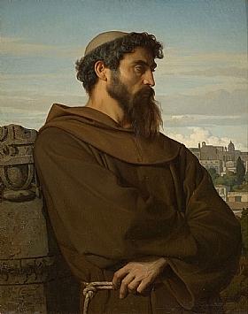 Alexandre Cabanel, jeune moine romain - GRANDS PEINTRES / Cabanel