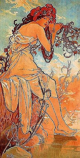 Alfons Mucha, Eté - GRANDS PEINTRES / Mucha
