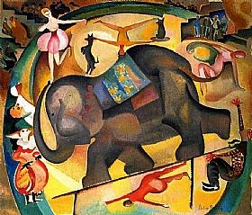 Alice Bailly, Au Cirque - GRANDS PEINTRES / Bailly