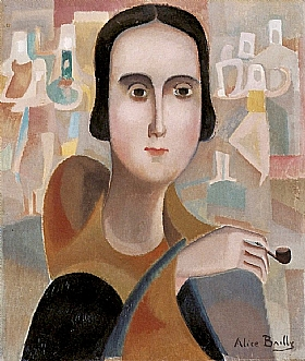 Alice Bailly, Femme avec une pipe - GRANDS PEINTRES / Bailly