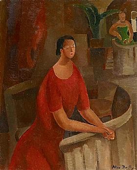 Alice Bailly, Femme au balcon - GRANDS PEINTRES / Bailly