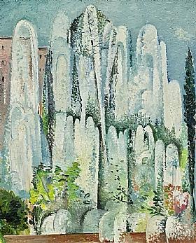 Alice Bailly, Fontaine dans un jardin de Rome - GRANDS PEINTRES / Bailly