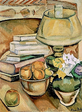 Alice Bailly, Lampe avec livres et fruits - GRANDS PEINTRES / Bailly