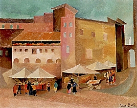 Alice Bailly, Petit marché italien - GRANDS PEINTRES / Bailly