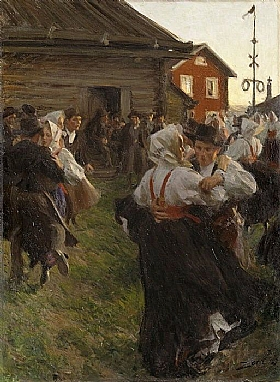 Anders Zorn, Danse de la Saint-Jean - GRANDS PEINTRES / Zorn