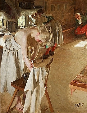 Anders Zorn, Dimanche matin - GRANDS PEINTRES / Zorn